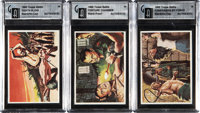"""1965 Topps """"Battle"""" Artist Proofs Trio (3) - All Banned From UK Edition"""