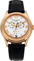Timepieces:Wristwatch, Patek Philippe Ref. 5035 Fine Rose Gold Annual Calendar SelfWinding Wristwatch, circa 1999. ...