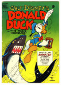 """Golden Age (1938-1955):Cartoon Character, Four Color #291 Donald Duck in """"The Magic Hourglass"""" (Dell, 1950) Condition: VG+...."""