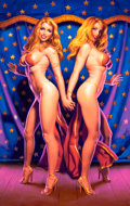 Paintings, GREG HILDEBRANDT (American, b. 1939). Double Your Pleasure, 2000. Acrylic on board. 38 x 24 in.. Signed lower left. ...