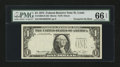 Error Notes:Third Printing on Reverse, Fr. 1908-H $1 1974 Federal Reserve Note. PMG Gem Uncirculated 66 EPQ.. ...