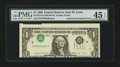 Error Notes:Inverted Third Printings, Fr. 1914-H $1 1988 Federal Reserve Note. PMG Choice Extremely Fine45 EPQ.. ...