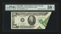 Error Notes:Foldovers, Fr. 2070-G $20 1969C Federal Reserve Note. PMG Choice About Unc 58EPQ.. ...