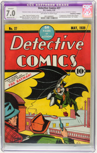 Detective Comics #27 (DC, 1939) CGC Apparent FN/VF 7.0 Moderate (A) Off-white to white pages
