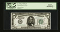 Small Size:Federal Reserve Notes, Fr. 1951-J $5 1928A Federal Reserve Note. PCGS Gem New 65PPQ.. ...