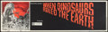 """Movie Posters:Fantasy, When Dinosaurs Ruled the Earth (Warner Brothers, 1970). Banner (24"""" X 82""""). Fantasy.. ..."""