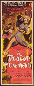 "Movie Posters:Adventure, A Thousand and One Nights (Columbia, 1945). Insert (14"" X 36"").Adventure.. ..."