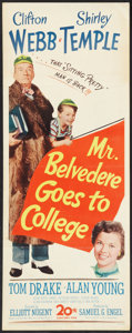 """Movie Posters:Comedy, Mr. Belvedere Goes to College (20th Century Fox, 1949). Insert (14"""" X 36""""). Comedy.. ..."""