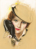Pin-up and Glamour Art, CHARLES GATES SHELDON (American, 1889-1960). Mary Eastman.Pastel on board. 14.5 x 10.5 in.. Not signed. ...