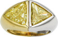 Estate Jewelry:Rings, Fancy Yellow Diamond, Platinum, Gold Ring, Bvlgari. ...