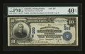 National Bank Notes:Pennsylvania, Chester, PA - $10 1902 Date Back Fr. 616 The Delaware County NB Ch.# (E)355. ...