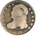 Bust Dimes, 1829 10C Curl Base 2 Good 4 ANACS....