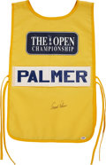 "Autographs:Jerseys, Arnold Palmer Signed ""The Open Championship Caddy Bid...."