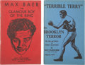 Boxing Collectibles:Memorabilia, 1942-43 Max Baer and Terry McGovern Vintage Books Lot of 2....
