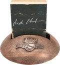 Basketball Collectibles:Others, Red Holzman Signed New York Knicks Court Display....