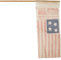Political:3D & Other Display (1896-present), Woman's Suffrage: Iowa Suffragette Parade Flag....