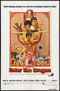 """Enter the Dragon (Warner Brothers, 1973). One Sheet (27"""" X 41""""), Personality Poster (20"""" X 27""""), and..."""