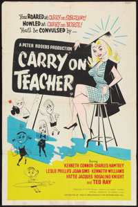"Carry on Teacher Lot (Anglo Amalgamated, 1962). British One Sheet (27"" X 40"") and One Sheet (27"" X 41&quo..."