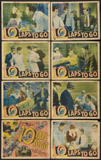"""10 Laps to Go (Ace, 1936). Lobby Card Set of 8 (11"""" X 14""""). Drama. ... (Total: 8 Items)"""
