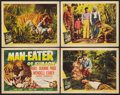 "Movie Posters:Adventure, Man Eater of Kumaon (Universal, 1948). Title Lobby Card and LobbyCards (3) (11"" X 14""). Adventure.. ... (Total: 4 Items)"