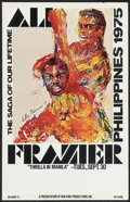 "Movie Posters:Sports, Ali vs. Frazier Fight (Don King, 1975). Close Circuit TV Poster (14"" X 22""). Sports. Also titled Thrilla in Manilla.. ..."