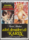 """Movie Posters:Adult, Adult Foreign Poster Lot (Various, 1980s). Italian Poster (19.5"""" X 27""""), Italian 2-Foglio (39"""" X 55""""), Spanish One Sheet (26... (Total: 3 Items)"""