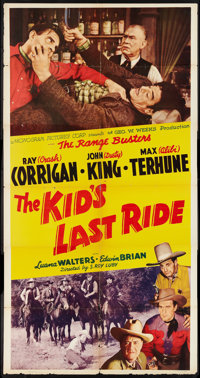 "The Kid's Last Ride (Monogram, 1941). Three Sheet (41"" X 81""). Western"