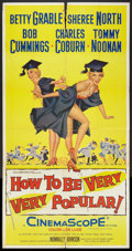 """Movie Posters:Comedy, How to Be Very, Very Popular (20th Century Fox, 1955). Three Sheet (41"""" X 81""""). Comedy.. ..."""