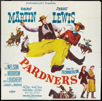"""Pardners (Paramount, 1956). Six Sheet (81"""" X 81""""). Comedy"""