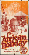 """Movie Posters:Documentary, African Holiday (Pearson Pictures, 1937). Three Sheet (41"""" X 81""""). Documentary.. ..."""
