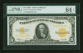 Large Size:Gold Certificates, Fr. 1173 $10 1922 Gold Certificate PMG Choice Uncirculated 64EPQ....