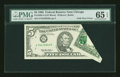 Error Notes:Foldovers, Fr. 1985-G $5 1995 Federal Reserve Note. PMG Gem Uncirculated 65EPQ.. ...