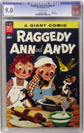 Golden Age (1938-1955):Cartoon Character, Dell Giant Comics Raggedy Ann & Andy #1 (Dell, 1955) CGC VF/NM9.0 Off-white pages....