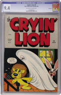 Golden Age (1938-1955):Funny Animal, Cryin' Lion Comics #3 Vancouver pedigree (Wm. H. Wise & Co.,1945) CGC NM 9.4 Off-white to white pages....