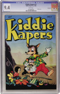 Golden Age (1938-1955):Funny Animal, Kiddie Kapers #1 Vancouver pedigree (Kiddie Kapers, 1946) CGC NM9.4 White pages....