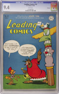 Golden Age (1938-1955):Funny Animal, Leading Comics #18 Vancouver pedigree (DC, 1946) CGC NM 9.4 Whitepages....