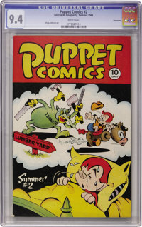 Puppet Comics #2 Vancouver pedigree (George W. Dougherty, 1946) CGC NM 9.4 White pages