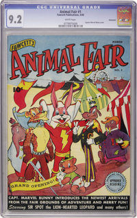 Animal Fair #1 Vancouver pedigree (Fawcett, 1946) CGC NM- 9.2 White pages