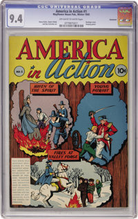 America in Action #1 Vancouver pedigree (Dell, 1945) CGC NM 9.4 Off-white to white pages