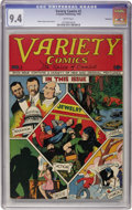 Golden Age (1938-1955):Miscellaneous, Variety Comics #2 Vancouver pedigree (Rural Home, 1945) CGC NM 9.4 White pages....