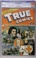 Golden Age (1938-1955):Non-Fiction, True Comics #2 Vancouver pedigree (True, 1941) CGC NM- 9.2 Whitepages....