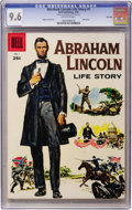 Silver Age (1956-1969):Miscellaneous, Dell Giant Comics - Abraham Lincoln Life Story File Copy (Dell,1958) CGC NM+ 9.6 Off-white pages....