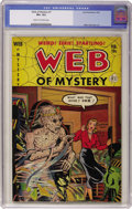 Golden Age (1938-1955):Horror, Web of Mystery #7 (Ace, 1952) CGC VF+ 8.5 Cream to off-whitepages....