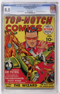 Golden Age (1938-1955):War, Top-Notch Comics #2 (MLJ, 1940) CGC VF+ 8.5 Off-white pages. ...