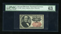 Fractional Currency:Fifth Issue, Fr. 1309 25c Fifth Issue PMG Choice Uncirculated 63 EPQ....