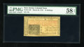 Colonial Notes:New Jersey, New Jersey March 25, 1776 15s with low #184 PMG Choice About Unc 58EPQ....