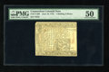 Colonial Notes:Connecticut, Connecticut June 19, 1776 1s/6d Uncancelled PMG About Uncirculated50....