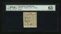 Colonial Notes:Connecticut, Connecticut October 11, 1777 7d PMG Choice Uncirculated 63 EPQ....