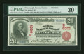 National Bank Notes:Pennsylvania, Pittsburgh, PA - $20 1902 Red Seal Fr. 639 The Mellon NB Ch. #(E)6301. ...
