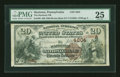 National Bank Notes:Pennsylvania, Hazleton, PA - $20 1882 Brown Back Fr. 498 The Hazleton NB Ch. #4204. ...